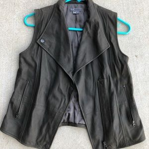 Women's Vince XXS Leather Vest